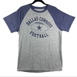 NFL Shirts - DALLAS COWBOYS AUTHENTIC Gray Short Sleeve Tee